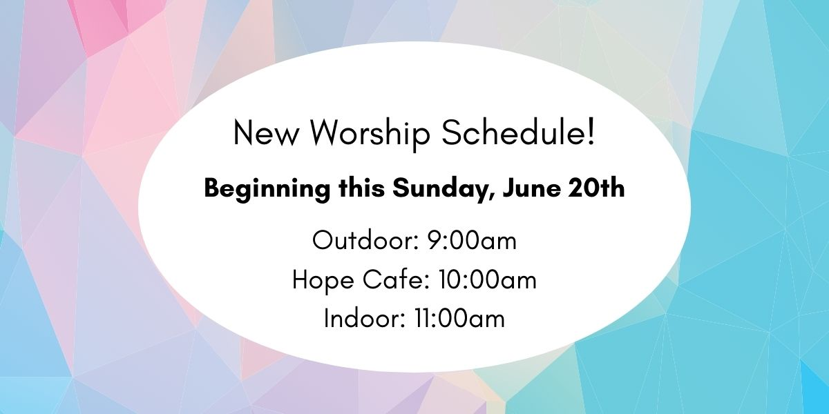 New Worship Times – Website