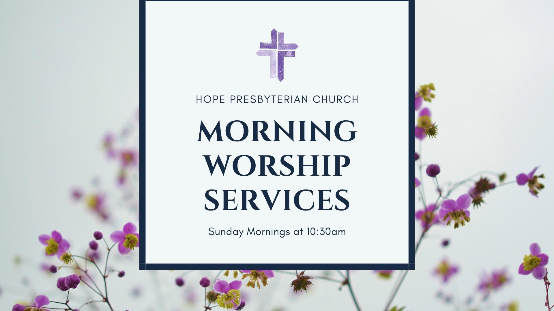 morning worship services