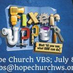 Fixer Upper – VBS 2018