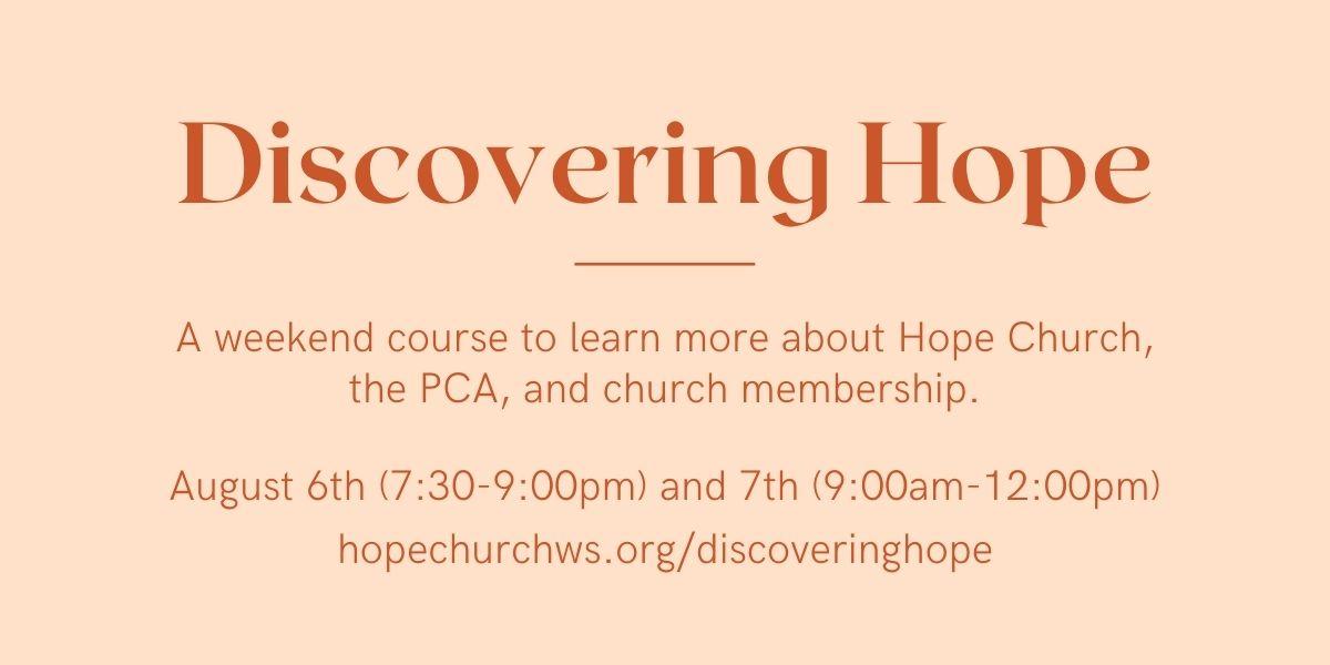 Discovering Hope – website